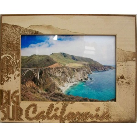 Big Sur California Laser Engraved Wood Picture Frame (5 x