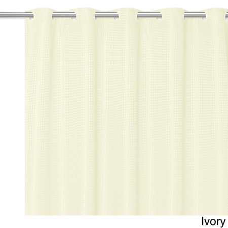 Bed Bath N More EZ ON Waffle Weave Fabric Shower Curtain With Snap Off Liner Assorted Colors 70x75