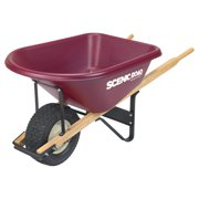 Scenic Road Single Wheel 6 Cube Wheelbarrow - 800 lb Capacity