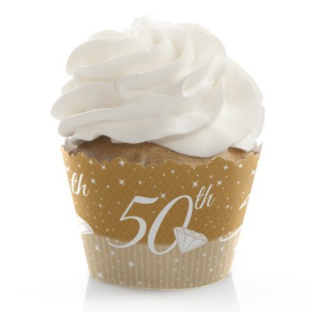 50th Anniversary - Party Cupcake Wrappers - Set of 12