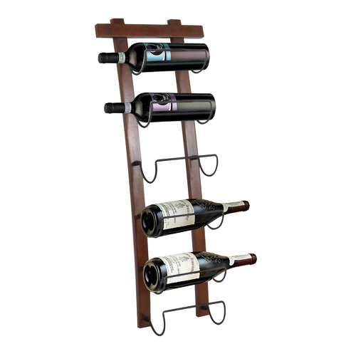 Fleur De Lis Living Crestside 6 Bottle Wall Mounted Wine Rack
