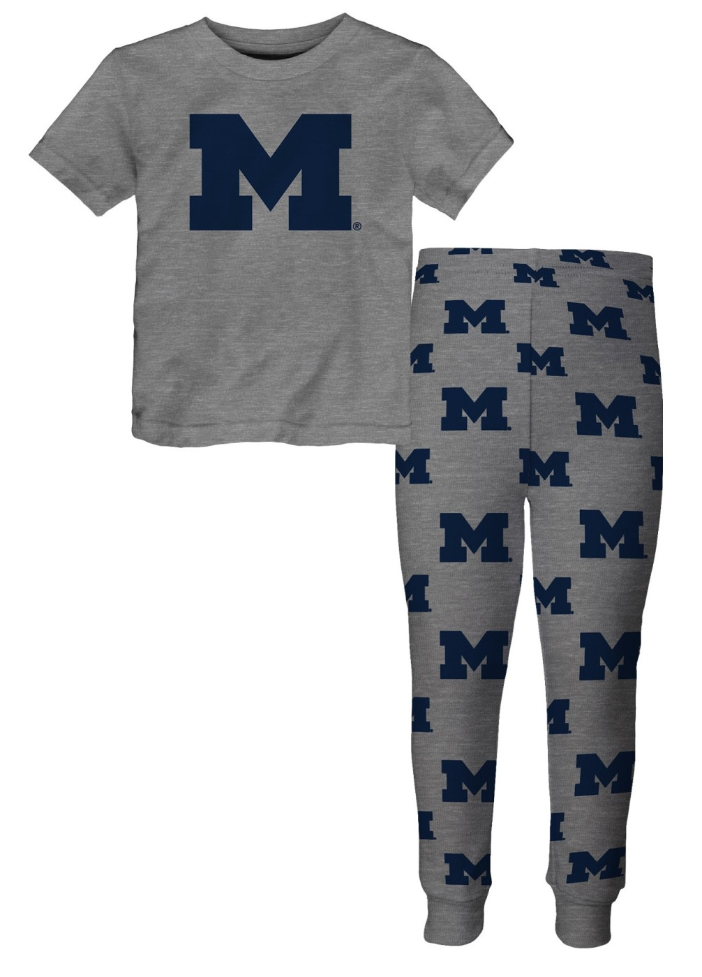 "Michigan Wolverines Youth NCAA ""Overtime"" Pajama T-shirt & Sleep Pant Set by Outerstuff"