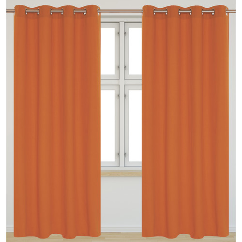LJ Home Karma Rich Solid Sheer Grommet Panel Pair (Set of 2)