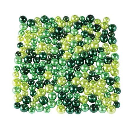 Fun Express - St Pats Green Pearl Bead Assortment for St. Patrick's Day - Craft Supplies - Adult Beading - Glass Beads - St. Patrick's Day - 200 Pieces](St Patrick's Day Beads)