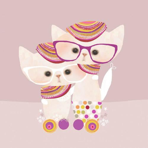 Oopsy Daisy - Canvas Wall Art Disco Kitty 14x14 By Schmooks