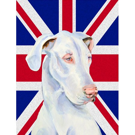 Great Dane with English Union Jack British Flag Flag Garden Size LH9465GF