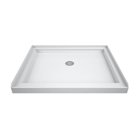 DreamLine SlimLine 36 in. D x 36 in. W x 2 3/4 in. H Center Drain Single Threshold Shower Base in (Single Threshold Rectangular Shower Base)