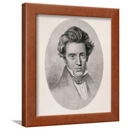 Portrait of Soren Kierkegaard Framed Print Wall Art