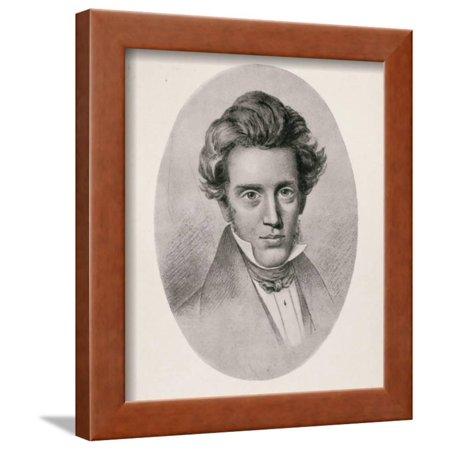 Portrait of Soren Kierkegaard Framed Print Wall Art