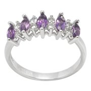 De Buman Sterling Silver Genuine Gemstone Ring Size 8