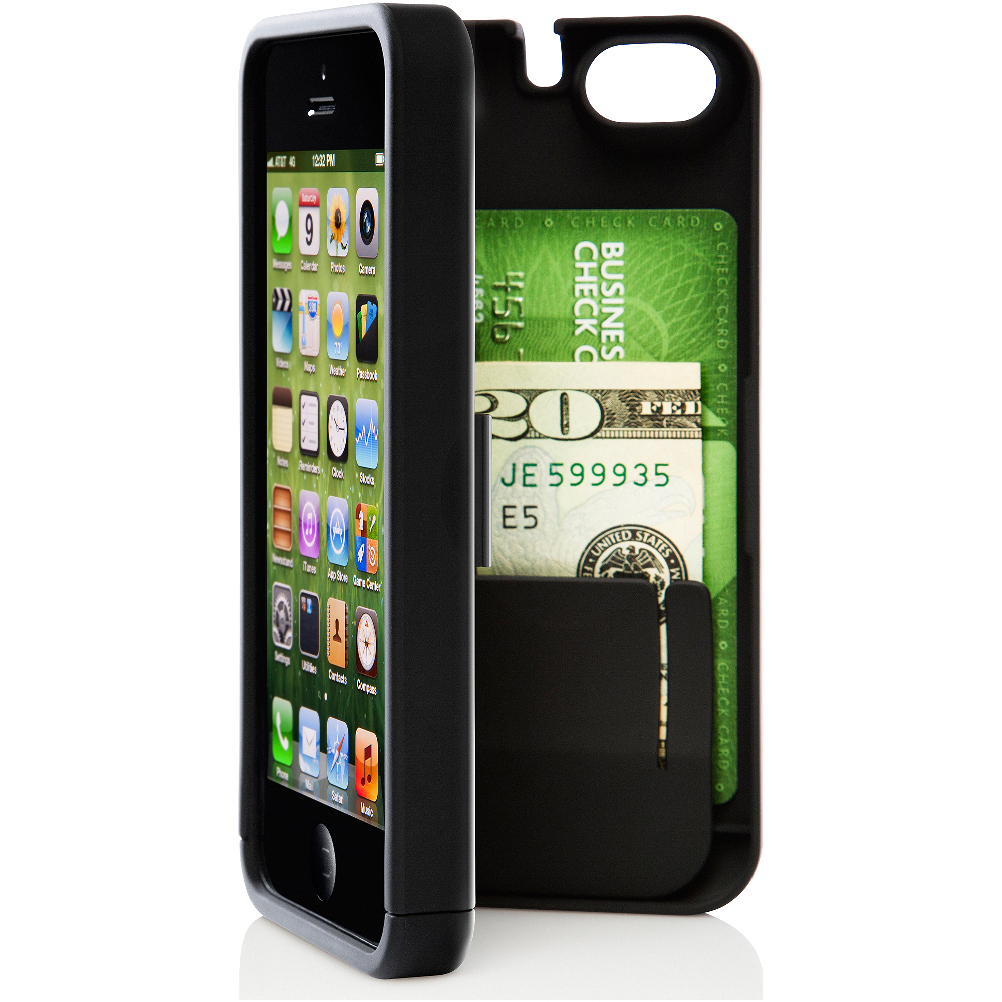 eyn Case for Apple iPhone 5/5S, Black