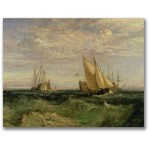 "Trademark Fine Art ""The Confluence of the Thames"" Canvas Wall Art by Joseph Turner"