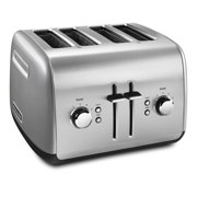 KitchenAid 4-Slice Toaster with Manual High-Lift Lever, Contour Silver (KMT4115CU)