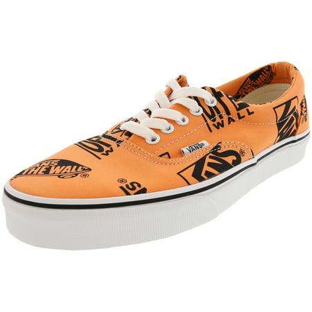 Vans Skateboard Shoe (Vans Era Logo Mix Tangerine / Black Skateboarding Shoe - 10.5M 9M)