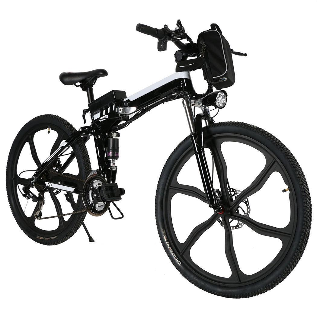 Lowest Price ever! ANCHEER 21 Speed Electric Bike Power Plus Foldable Mountain Bike Bicycle