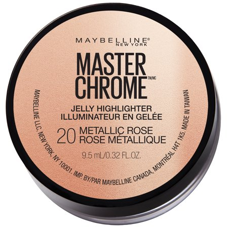 Maybelline Master Chrome Jelly Highlighter Face Makeup, Metallic Rose , 0.32 fl.