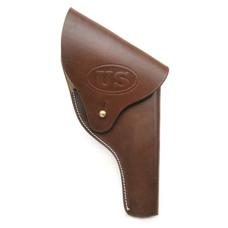 US Smith & Wesson Victory Model Revolver Holster Full Flap US Embossed in Brown Leather .38 Special Model
