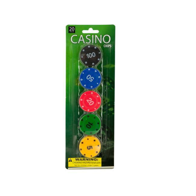 Bulk Buys KA318-12 Casino Poker Chips Set, 12 Piece by Bulk Buys
