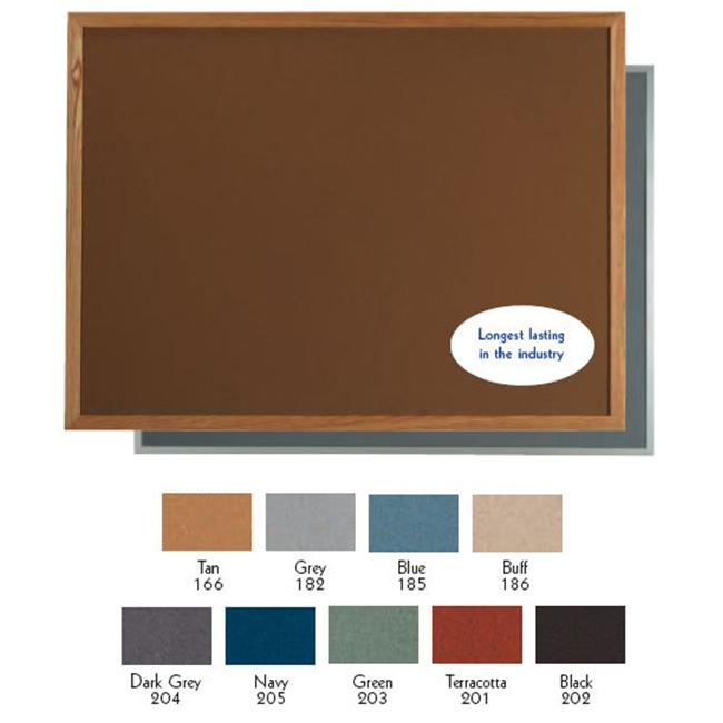 Aarco Products DW3648201 Aluminum Frame Bulletin Board - Terracotta
