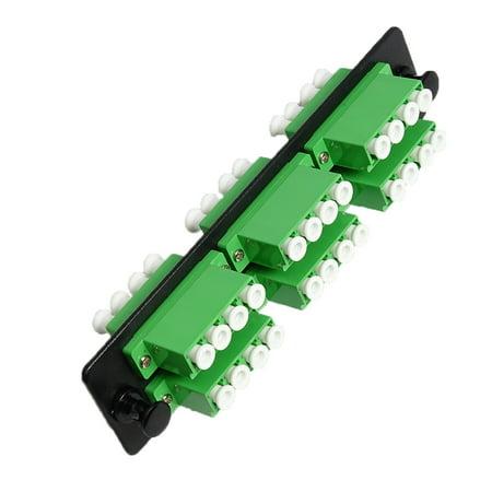 RiteAV LGX Footprint LC Adapter Panel, 6 Ports, Loaded w/6 LC Quad Duplex Singlemode APC Adapters, -