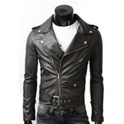 Men's PU Leather Biker Jacket
