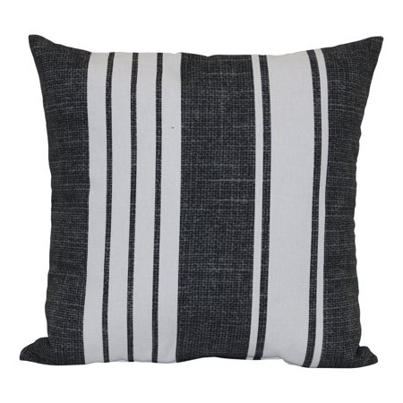 Mainstays Black And White Stripe Outdoor Pillow Walmart Com