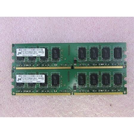 Micron MT16HTF25664AY-800J1 4GB 2 x 2G PC2-6400U DDR2 800 Non-ECC DT Memory Kit