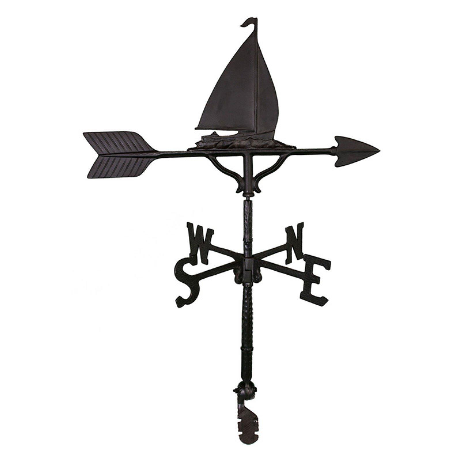 Black Sailboat Weathervane 32 in. by Montague Metal Products