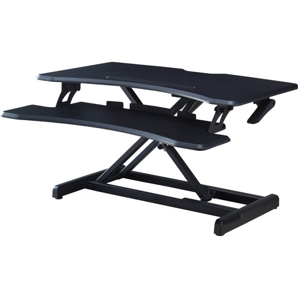 Lorell X-type Slim Desk Riser, Black