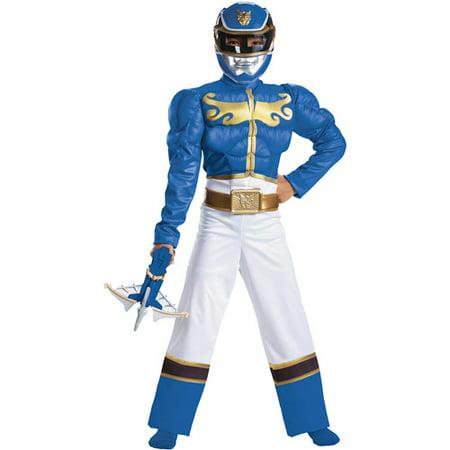 Power Rangers Blue Ranger Megaforce Classic Muscle Child Halloween Costume
