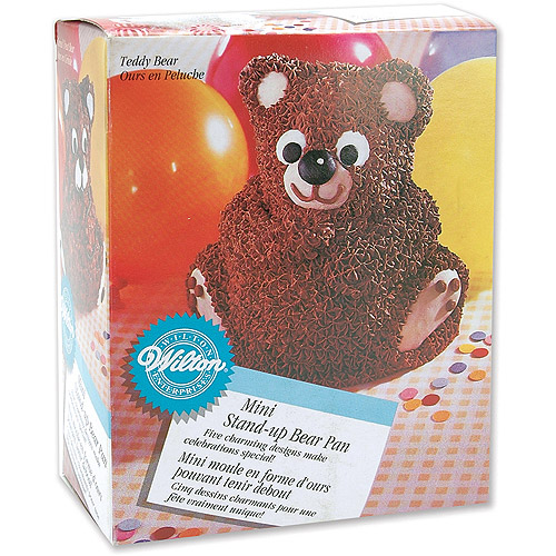 "Wilton Novelty 6.2""x5"" Shaped Stand-Up Cake Pan, Bear 2105-489"