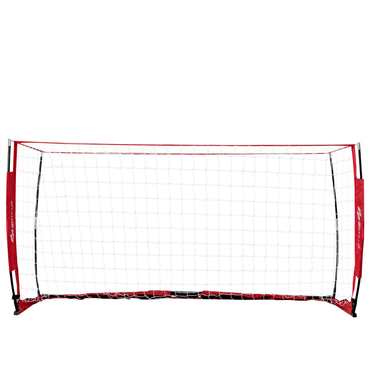 Costway 8' x 4' Soccer Goal Durable Bow Style Net Quick Setup Soccer Training w/ Bag
