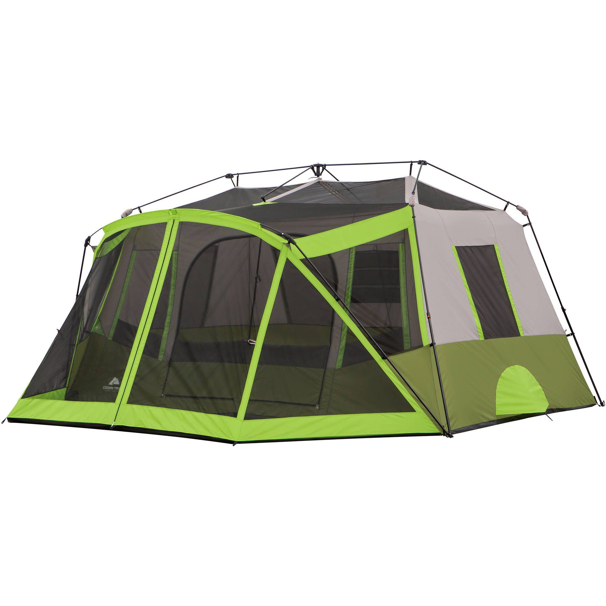 Ozark Trail 9 Person 2 Room Instant Cabin Tent with Screen Room Image 2 of 11  sc 1 st  Walmart.com & Ozark Trail 9 Person 2 Room Instant Cabin Tent with Screen Room ...