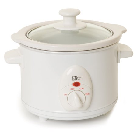Elite Cuisine 1.5-qt Slow Cooker, White