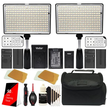 Bright Dimmable 2X 288Pcs Led Studio Video Light Up To 2800 Lumens Brightness And Color Temperature Control For Canon Nikon Sony For Product Photography  Youtube And Video Shooting