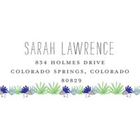 Hello Cactus Personalized Address Label