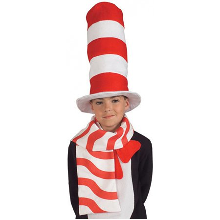 Cat in the Hat Scarf Child Costume Accessory