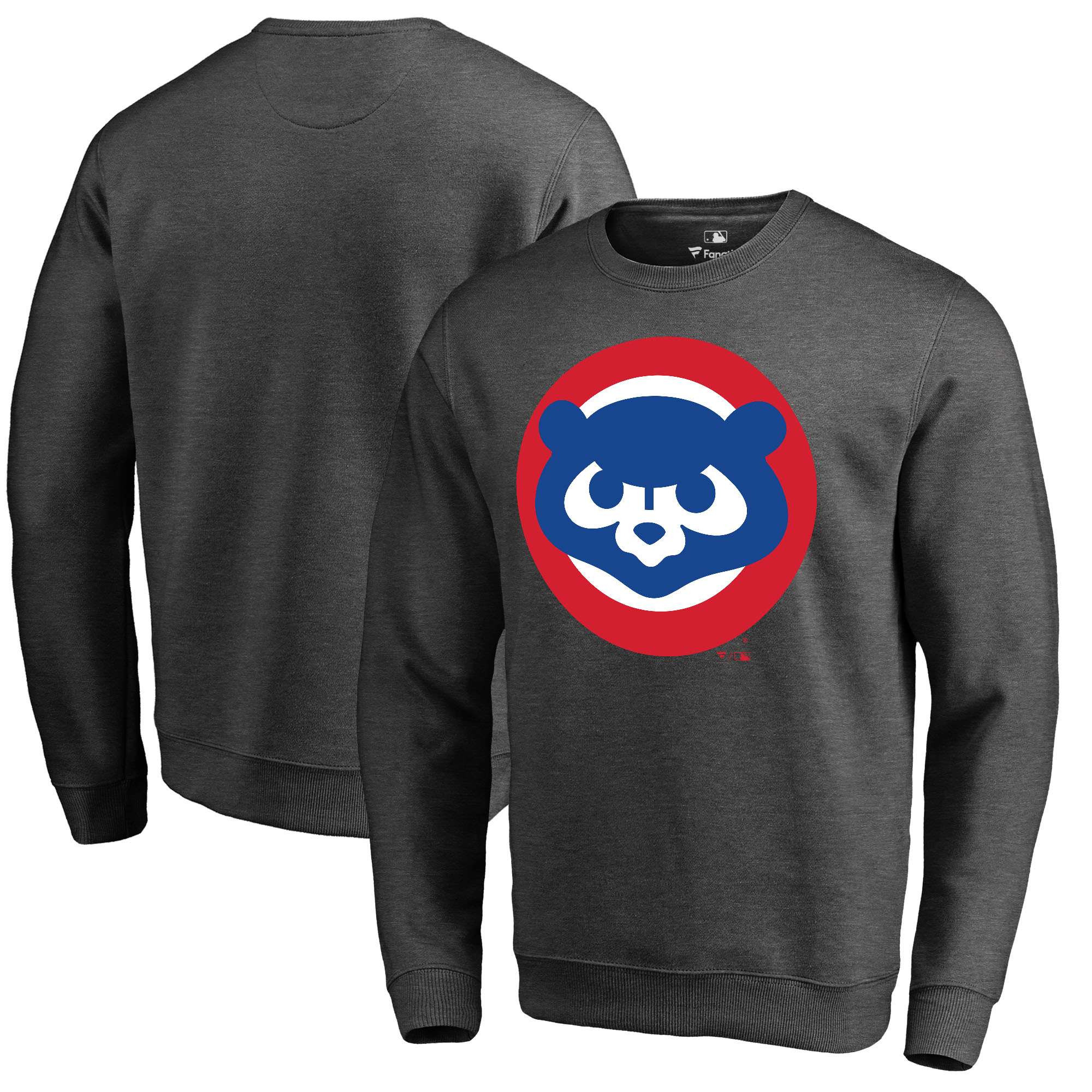 Chicago Cubs Fanatics Branded Cooperstown Collection Huntington Sweatshirt - Heathered Gray