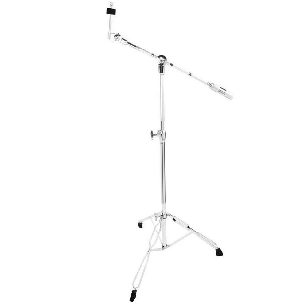 Stainless Steel Drum Cymbal Boom Stand Double Braced Legs Percussion Hardware by ICOCO