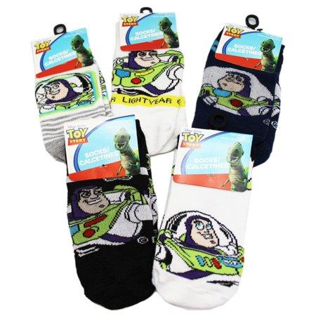 Disney Pixar's Toy Story Buzz Lightyear Assorted Sock Set (3 Pairs, Size 10.5-4)