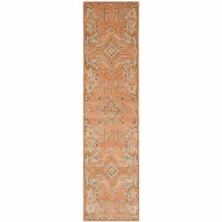 Terra Cotta Garden Rug - Safavieh Wyndham Richmal Hand-Hooked Runner Rug, Terracotta