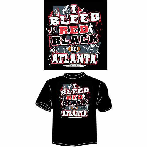"Atlanta Football ""I Bleed Red and Black, Go Atlanta"" T-Shirt, Black"