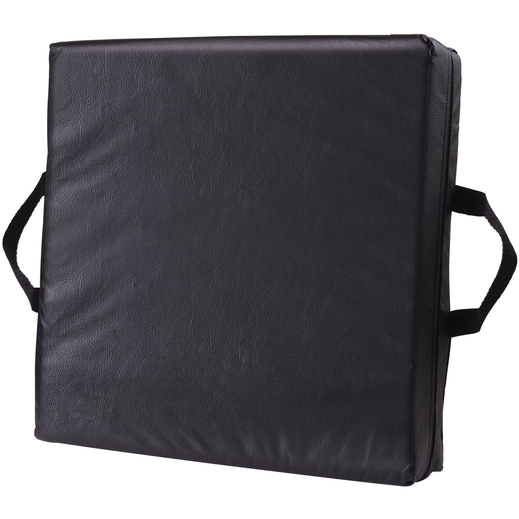 DMI Wheelchair Cushion with Black Cover, Cushion for Car Seat Driver, Adult Booster Seat, Thick Seat Riser, Seat Lift for Wheelchair
