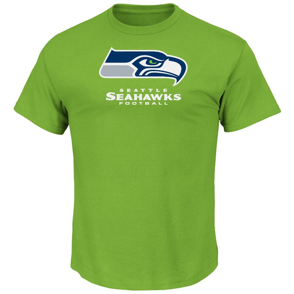 Seattle Seahawks Majestic NFL Critical Victory VIII Men's T-Shirt - Green