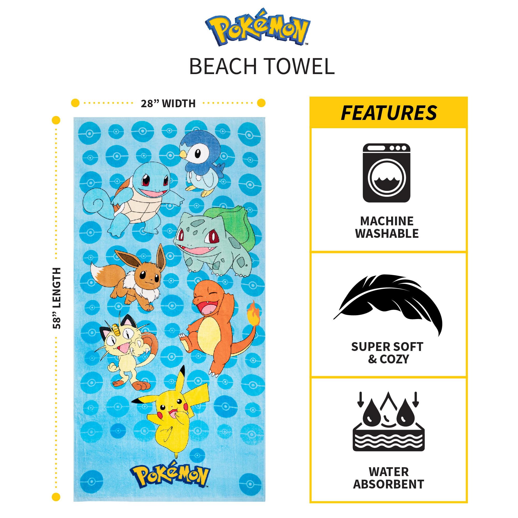 """Pokemon 28/"""" x 58/"""" Beach Towel NEW"""