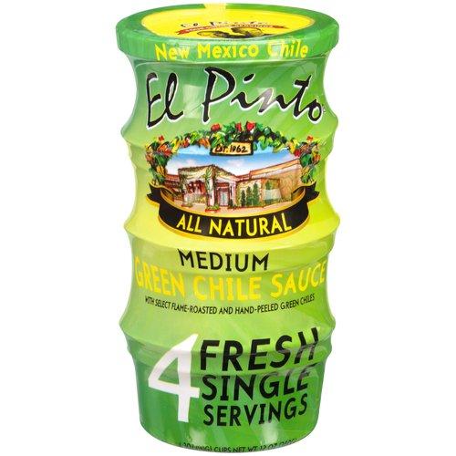 El Pinto Medium Green Chili Single Serve Salsa, 3 oz, 4 ct