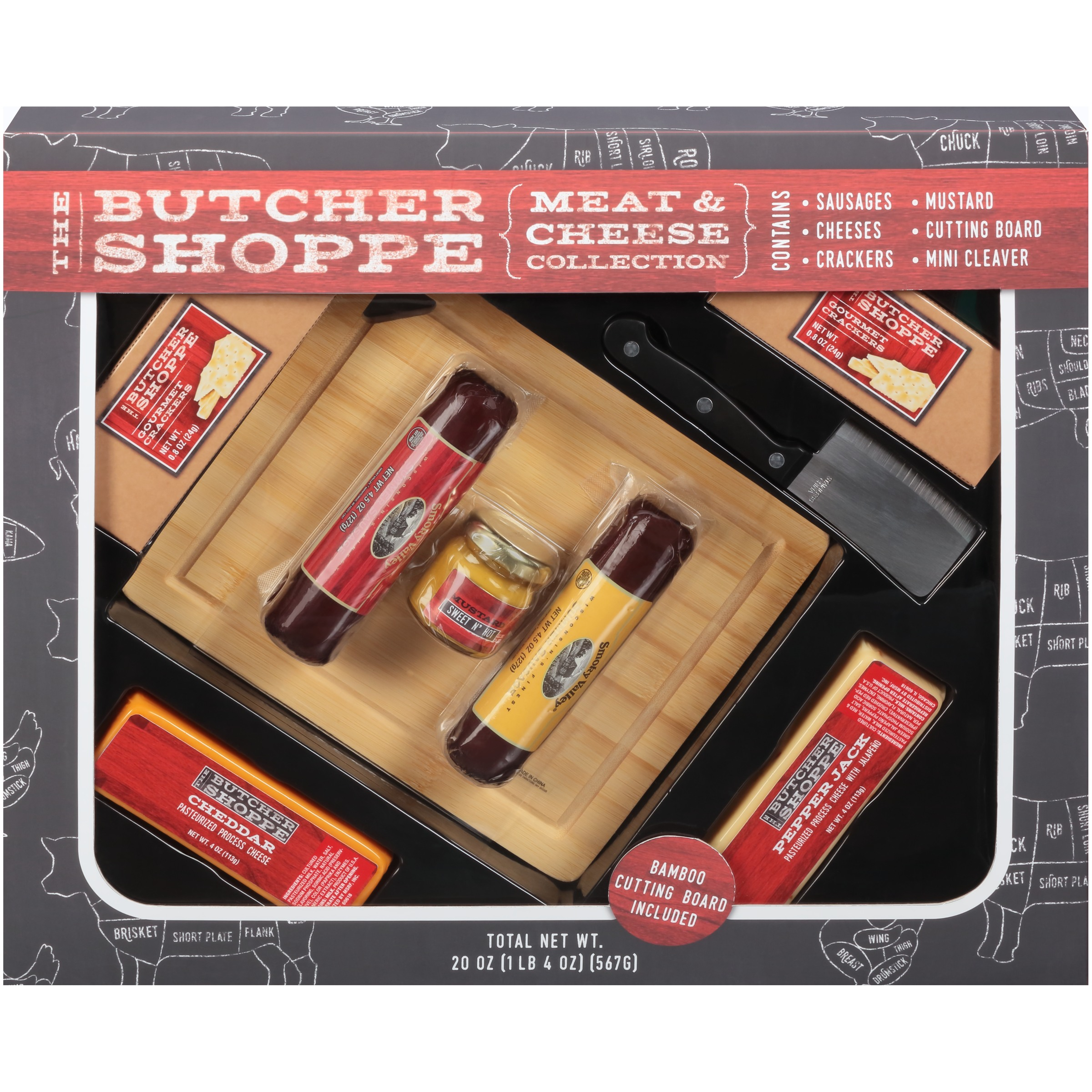 The Butcher Shoppe Meat & Cheese Collection Gift Set 9 pc Box