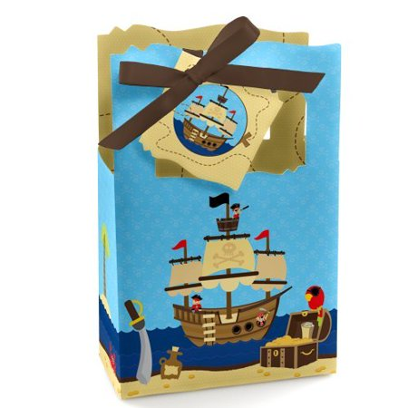 Ahoy Mates! - Pirate - Baby Shower or Birthday Party Favor Boxes - Set of 12