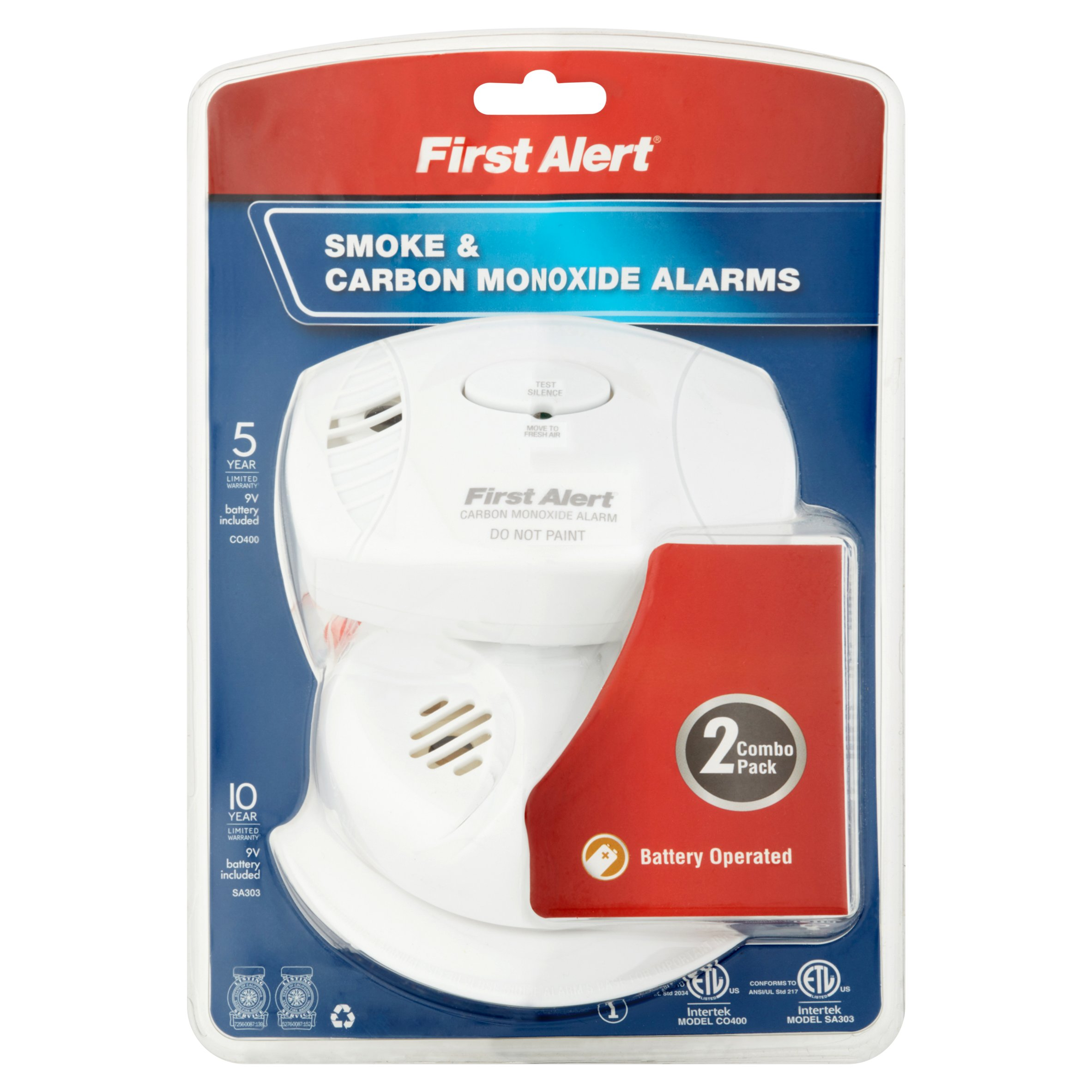 Click here to buy First Alert SCO403 Carbon Monoxide and Smoke Detector, Combo Pack by BRK Brands, Inc..