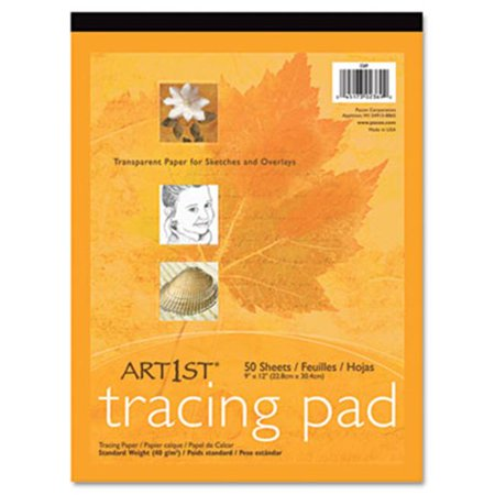 Pacon Art1st Parchment Tracing Paper, 9 x 12, White, 50 Sheets (PAC2312) 12 Tracing Paper Pad